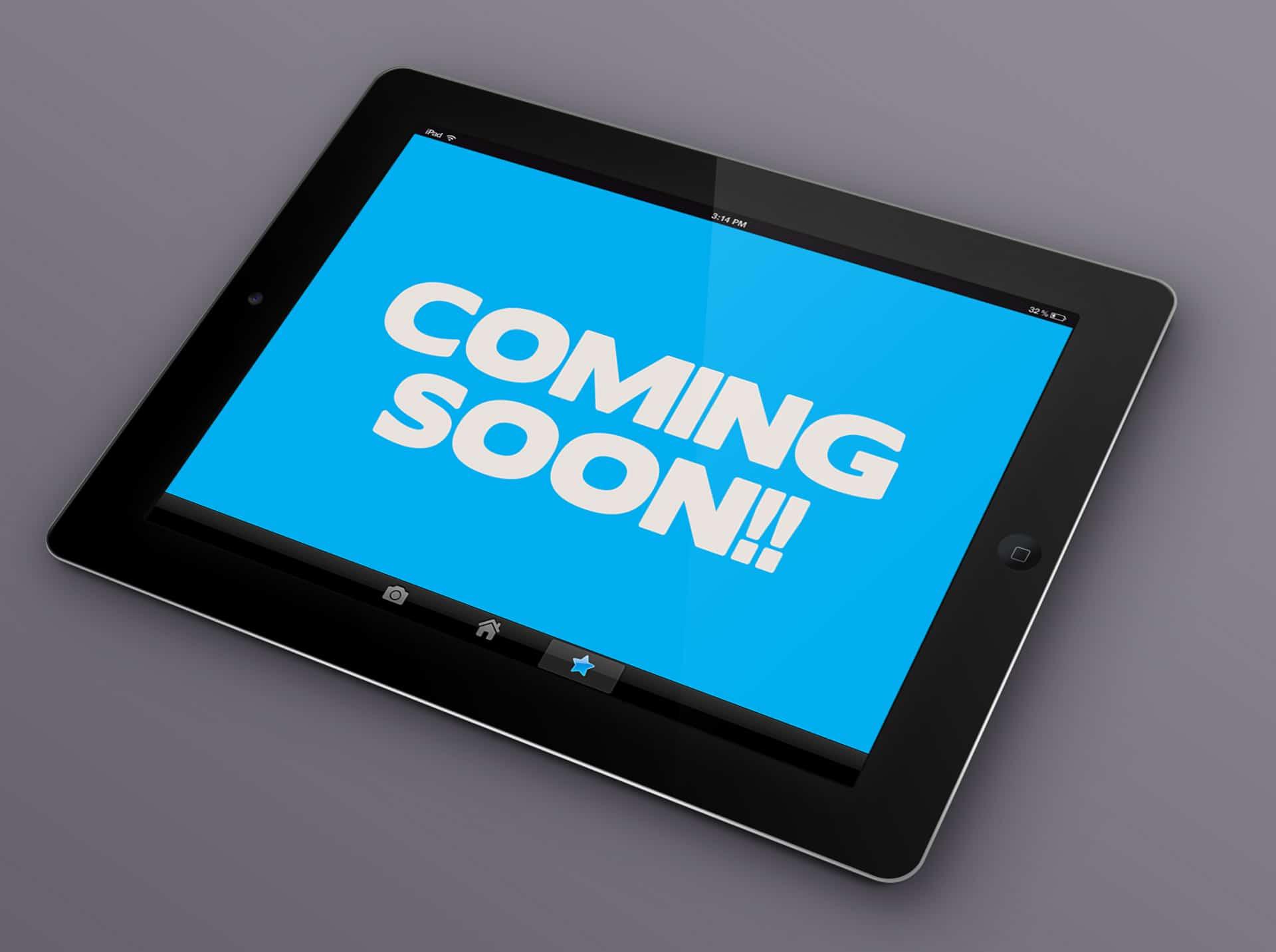 iPad App Coming Soon