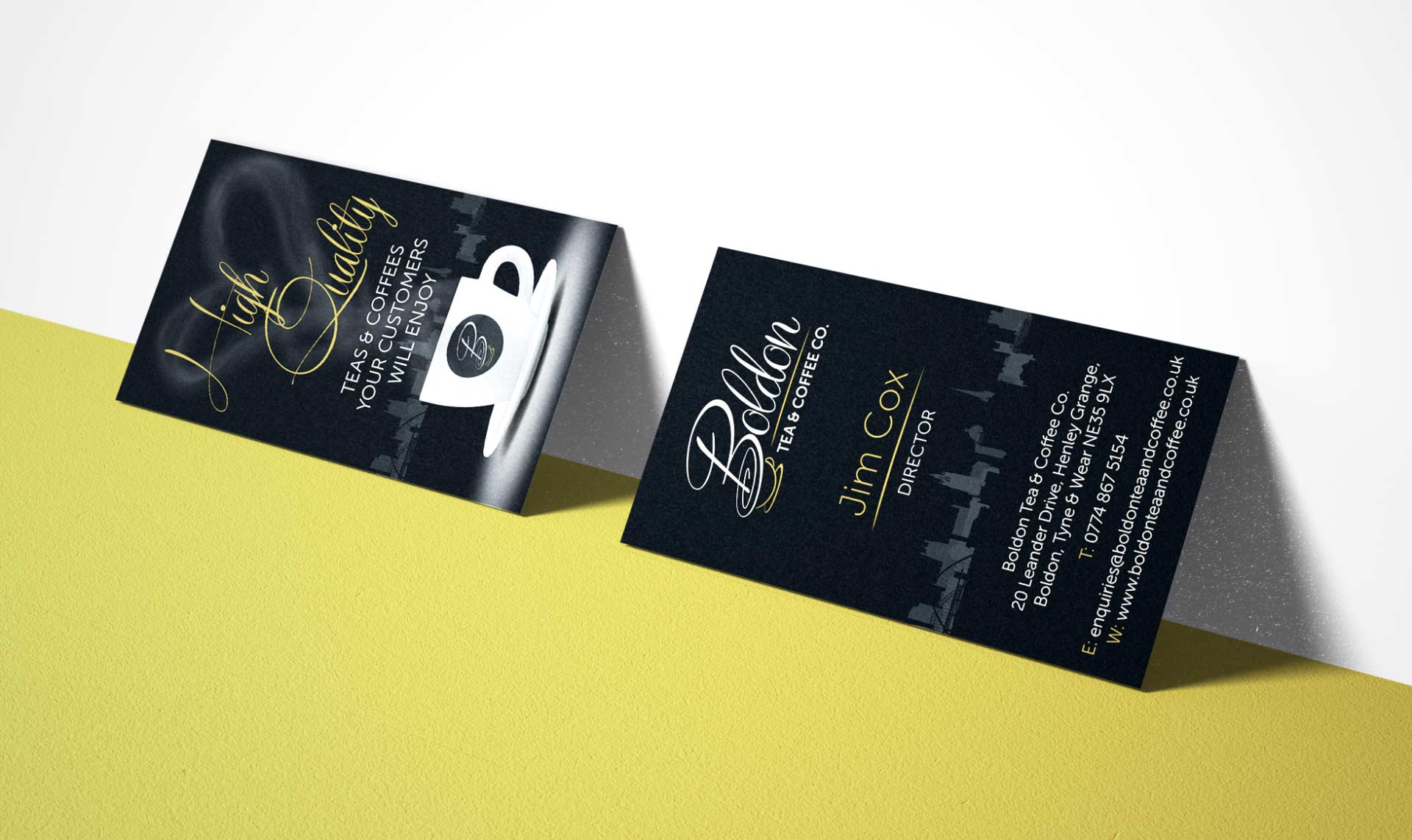 Boldon Tea and Coffee Business Card Design