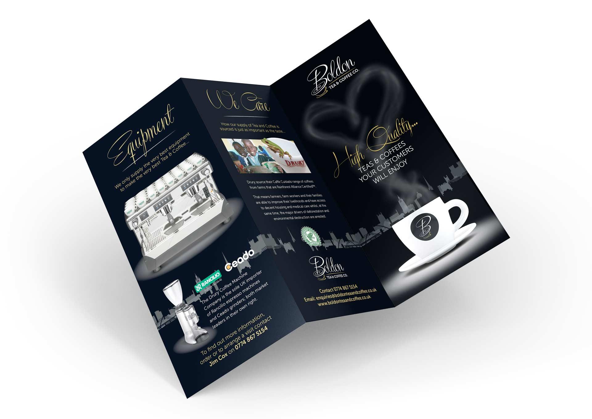 Boldon Tea and Coffee Leaflet Design
