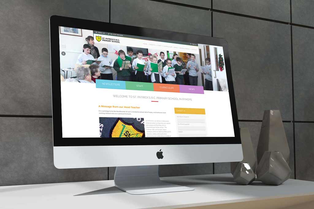 St Patricks Ryhope School Website Design Thumbnail