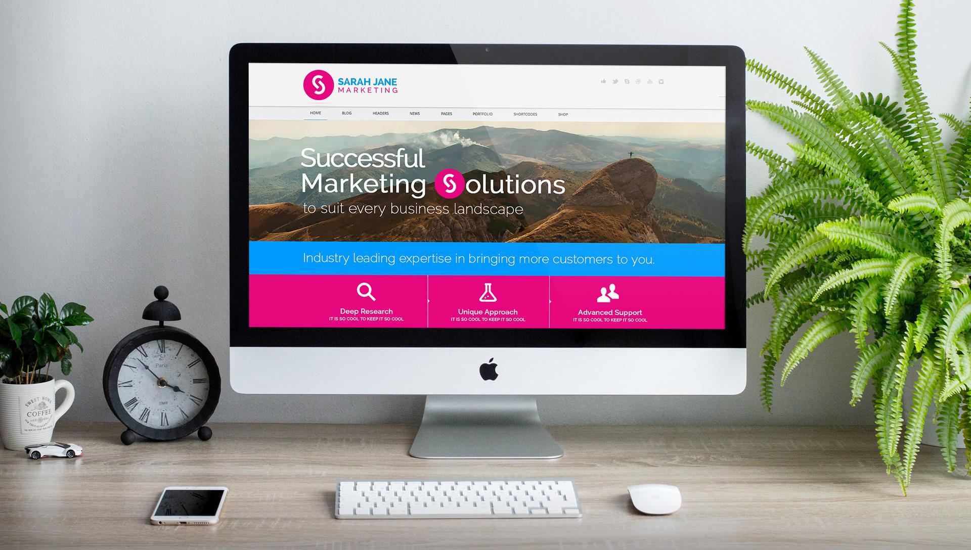 Sarah Jane Marketing - Website Design Mockup