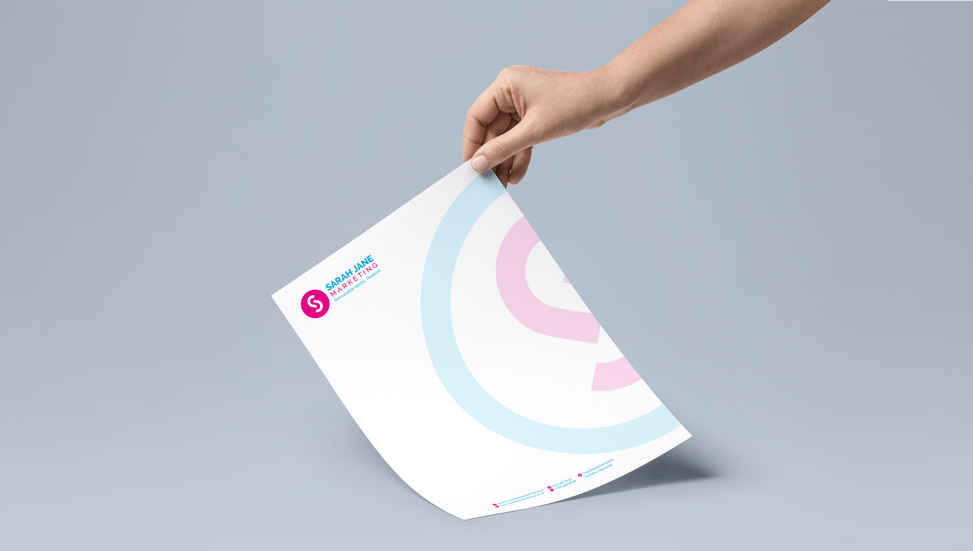 Sarah Jane Marketing Letterhead Design