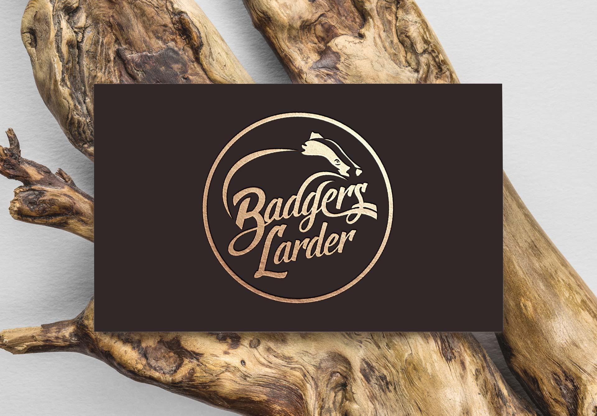 Badgers Larder Logo Design Business Card Reverse