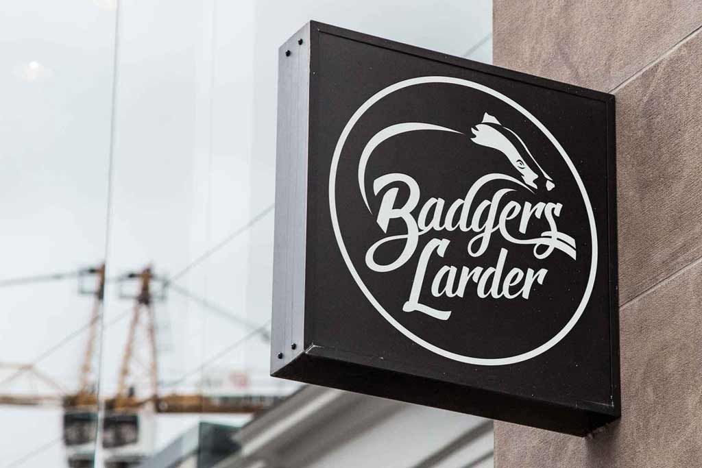 Badgers Larder Bespoke Logo Graphic Design Thumbnail