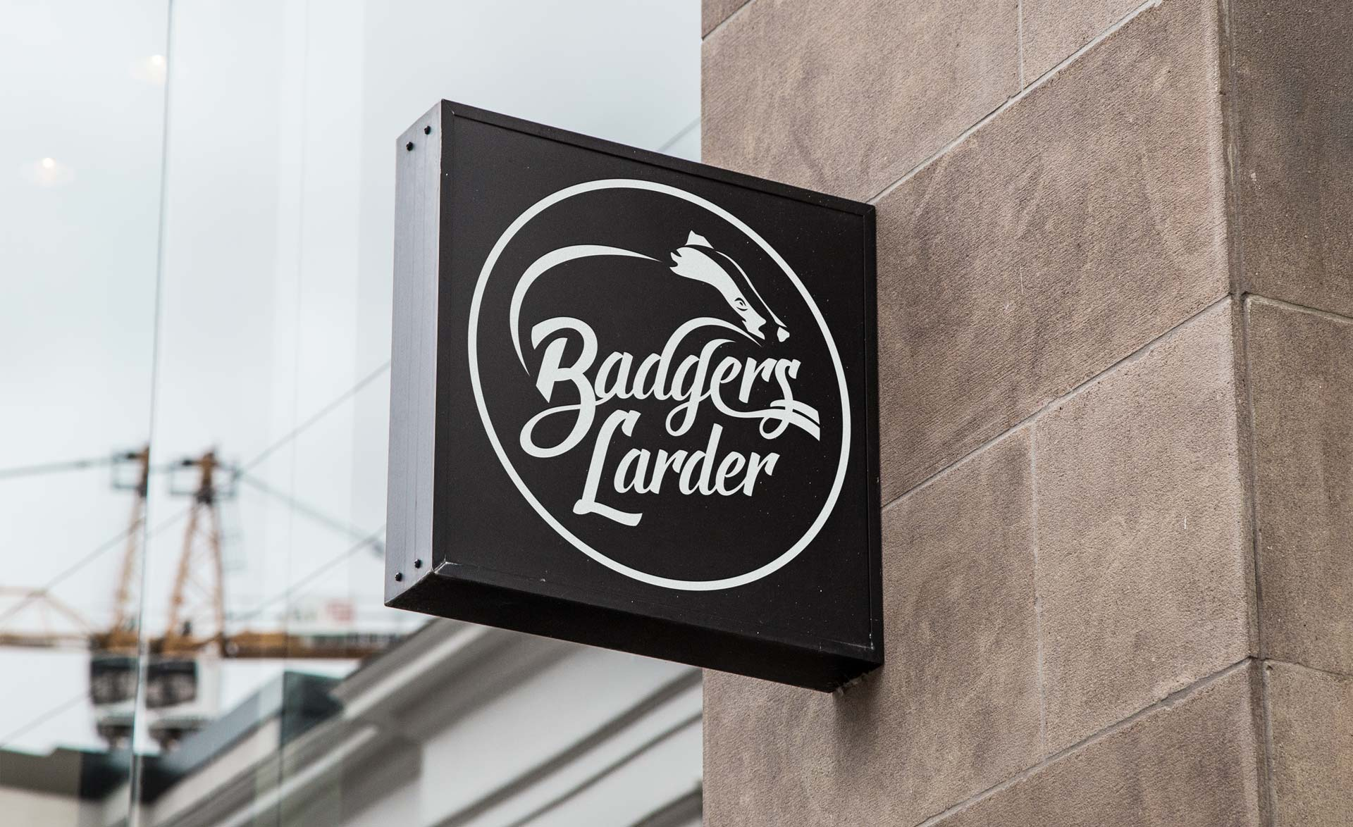 Badgers Larder Logo Design Signage