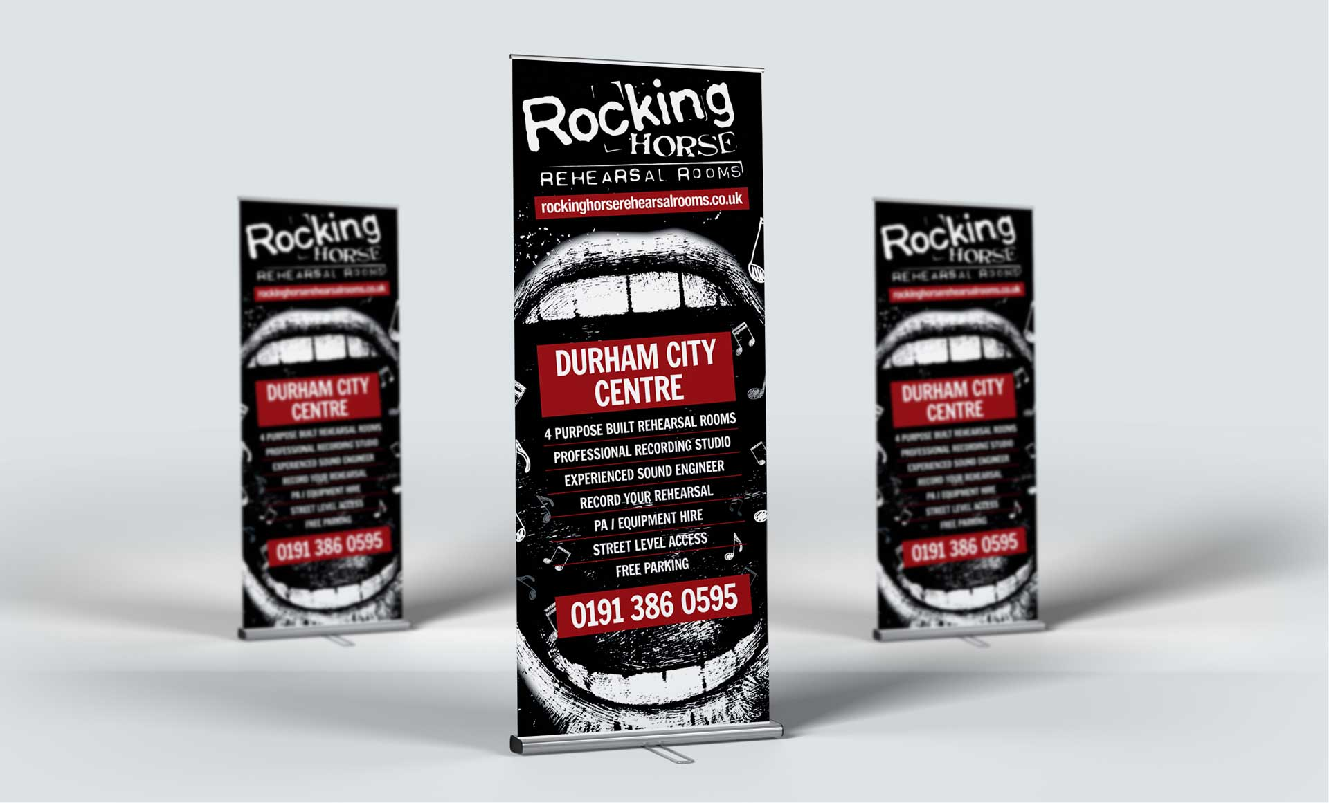 Rocking Horse Rehearsal Rooms Pop Up Banner