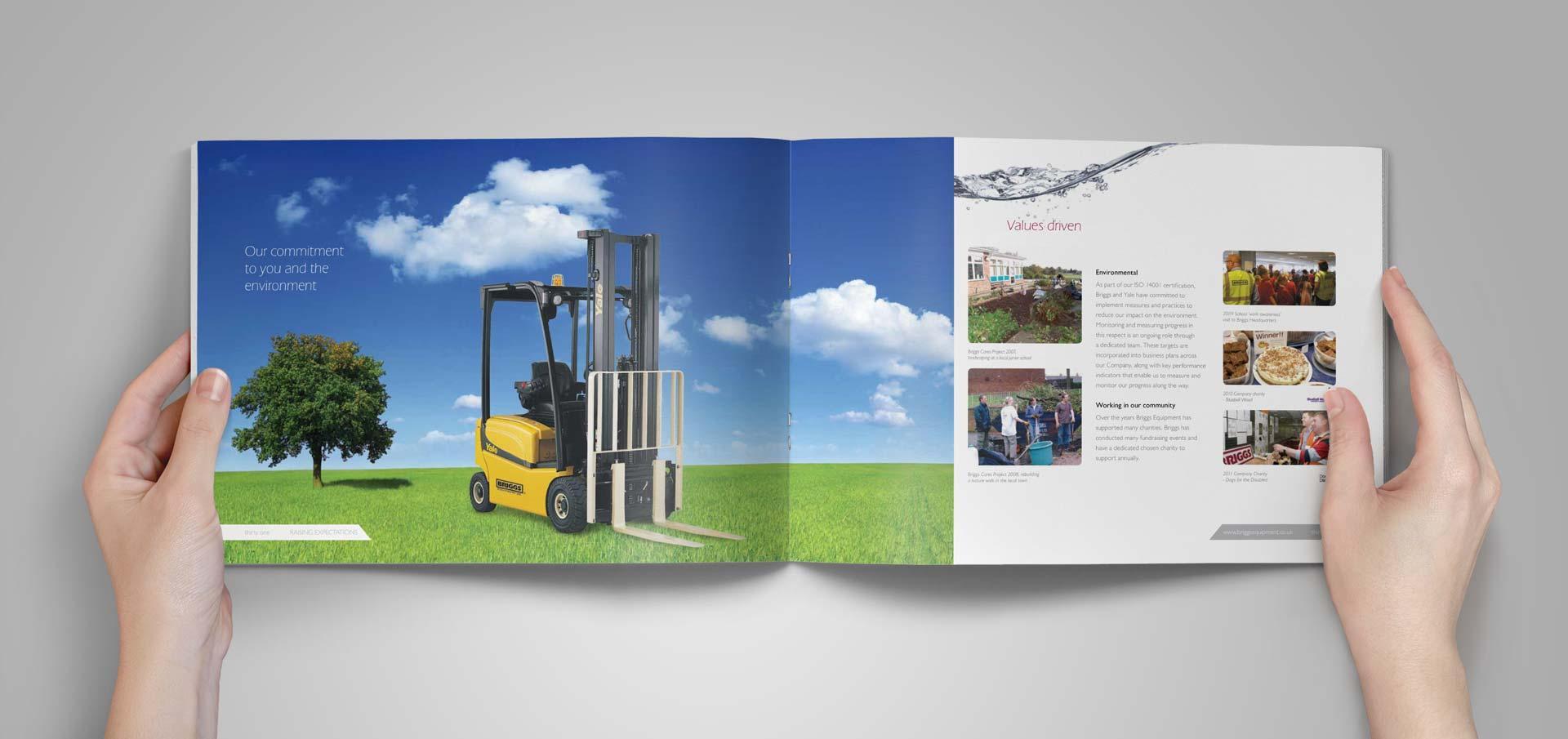 Briggs Equipment Brochure - Yale Forklift Environment Spread