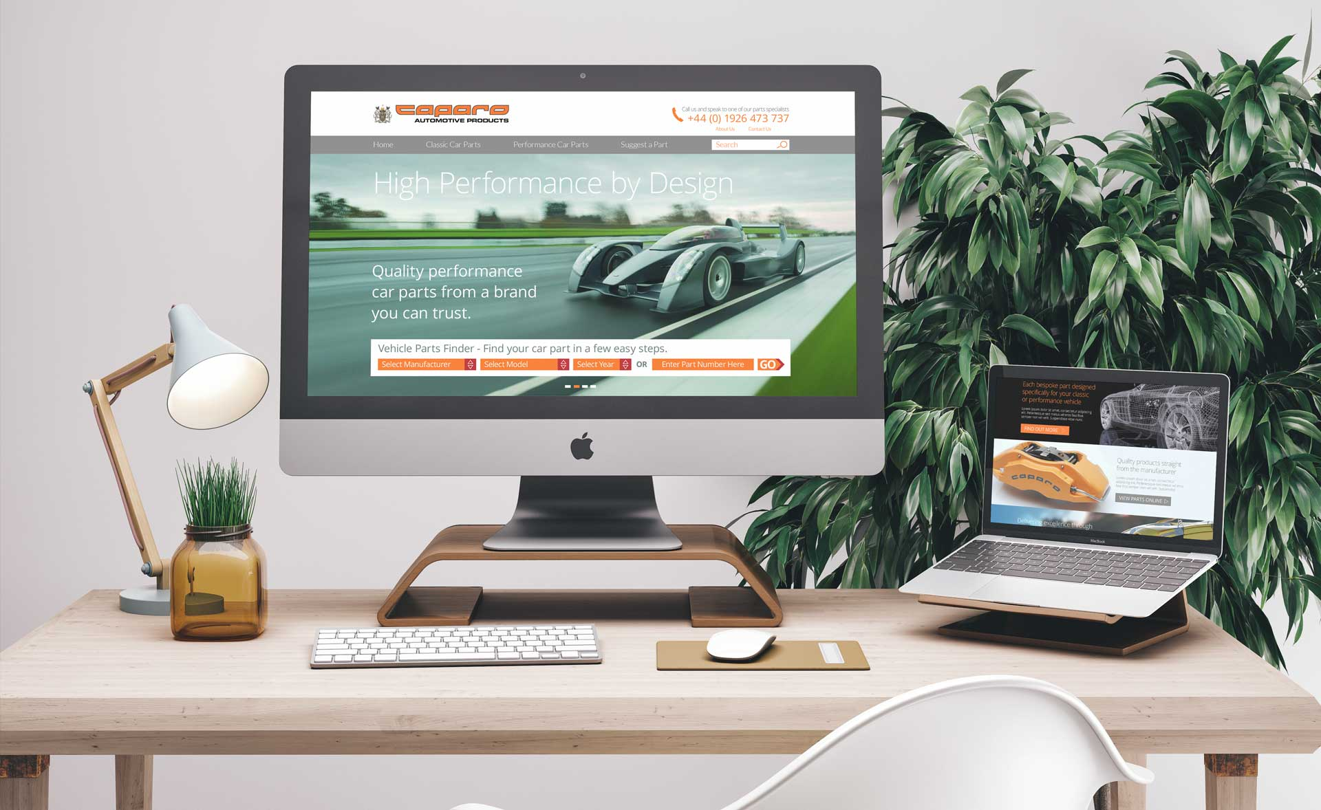 Caparo Website Layout Design