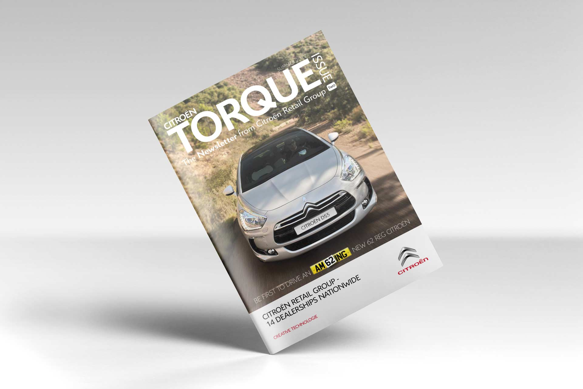 Magazine Design for Citroen Retail Group front cover