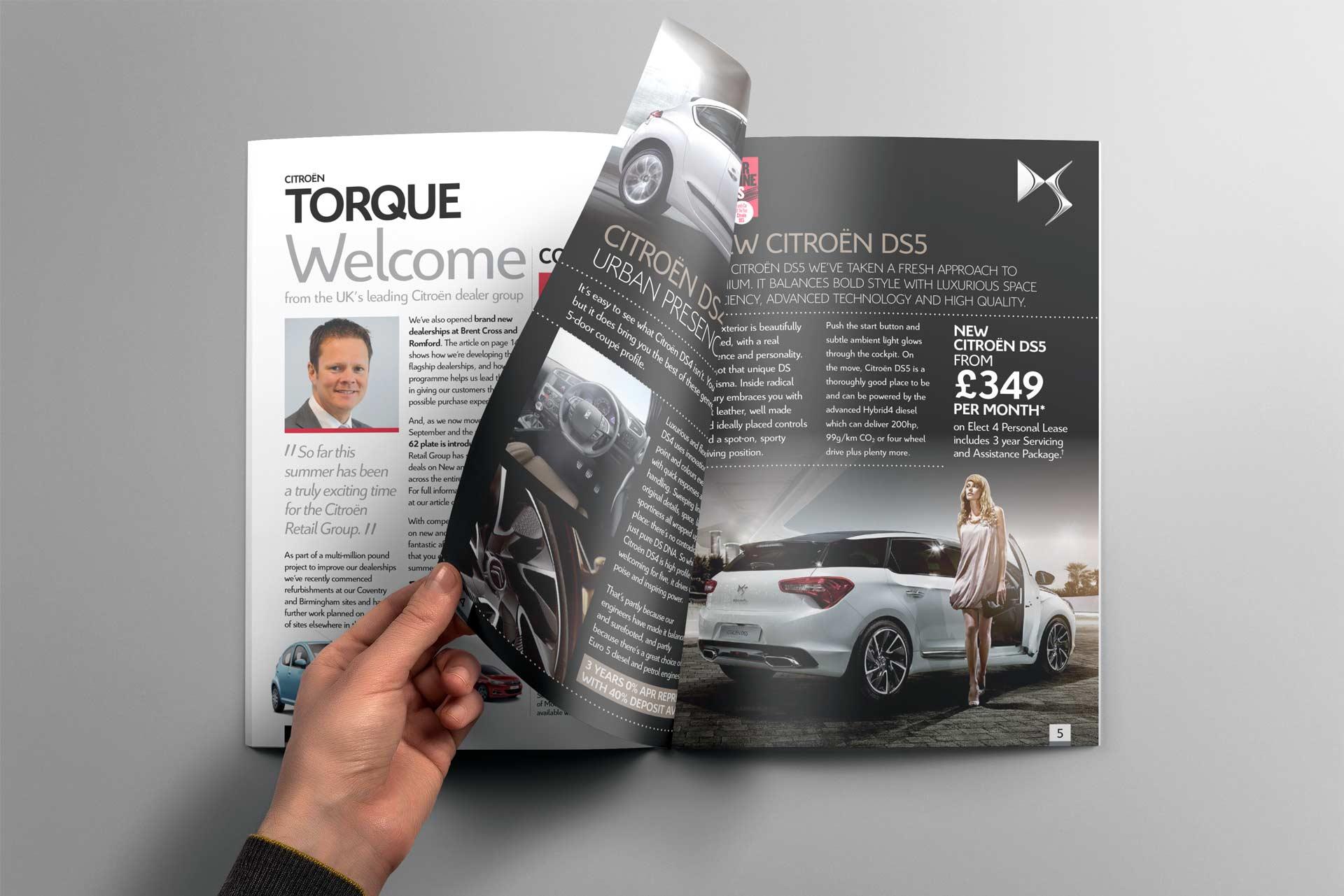 Citroen Torque Magazine Design inner pages