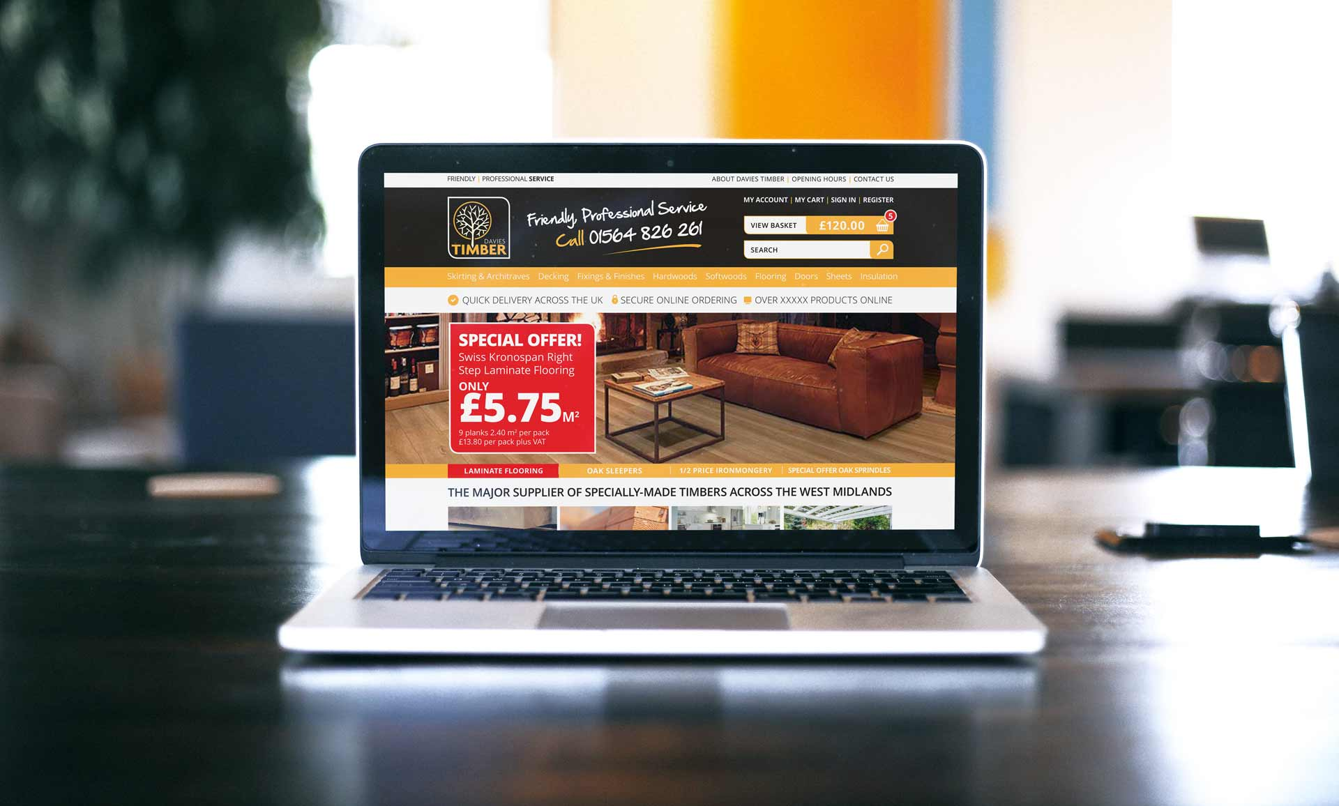 Davies Timber Solihull Website Design Example