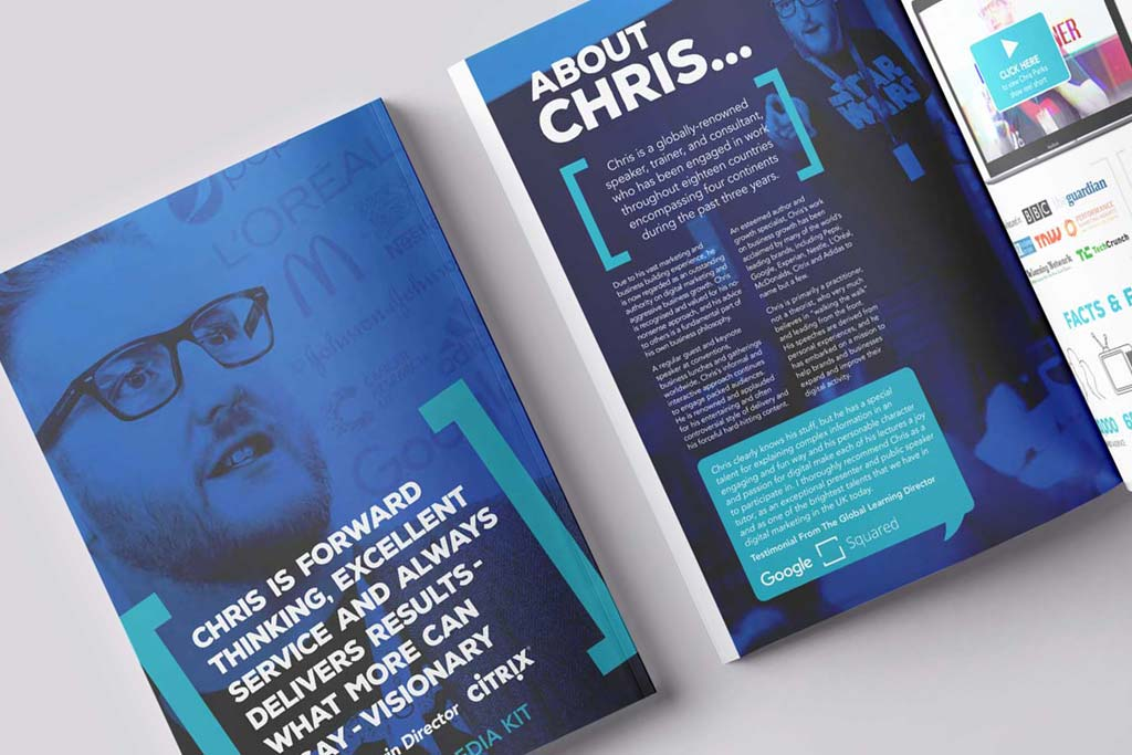 Chris Perks Media Pack Design Front Cover Featured Image