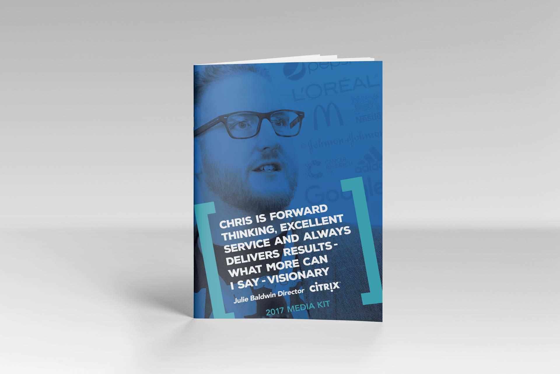 Chris Perks Press Kit Front Cover Design