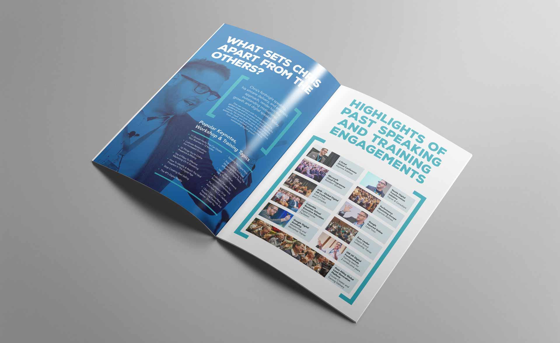 Chris Perks Press Kit Design Inner Spread