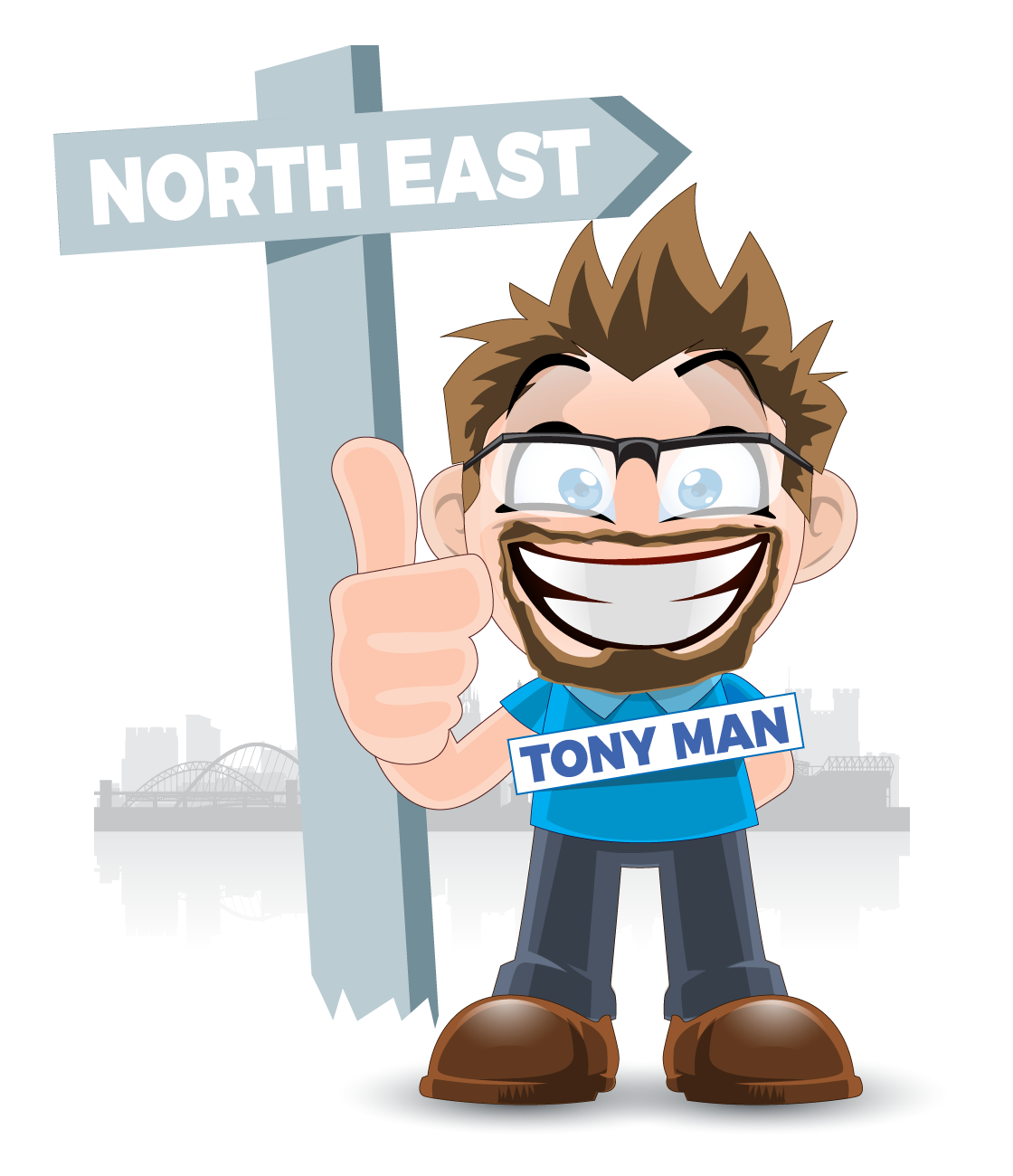 Tony Man Pointing North East