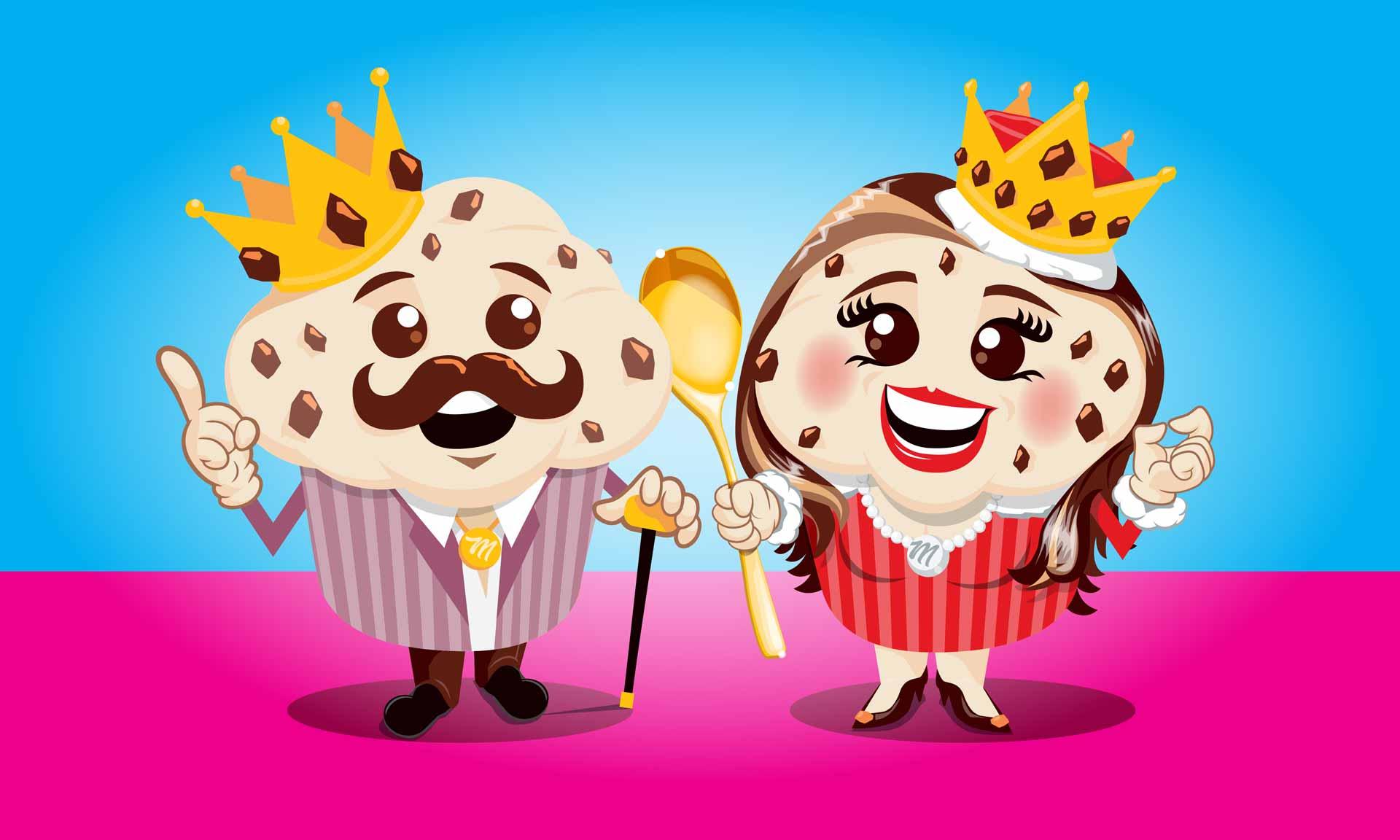 Mr and Mrs Muffin Cartoon Artwork design