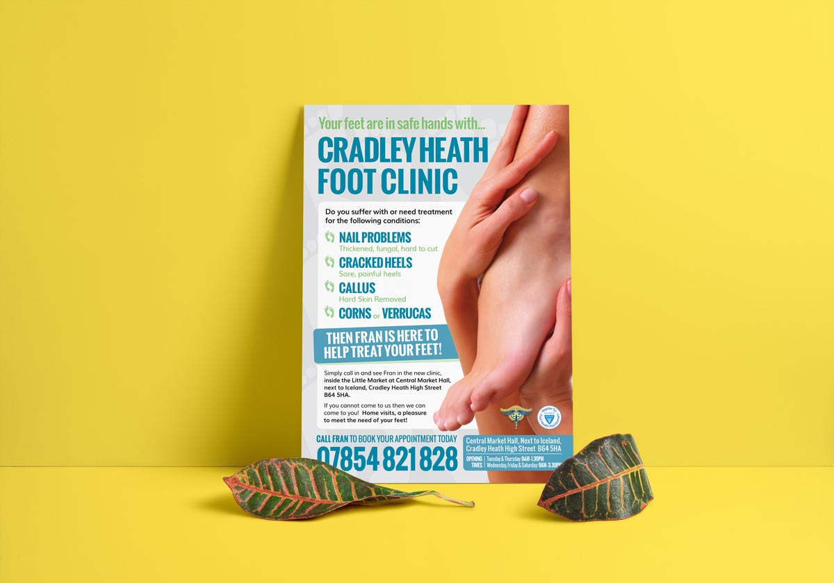 Cradley Heath Foot Clinic Leaflet Design