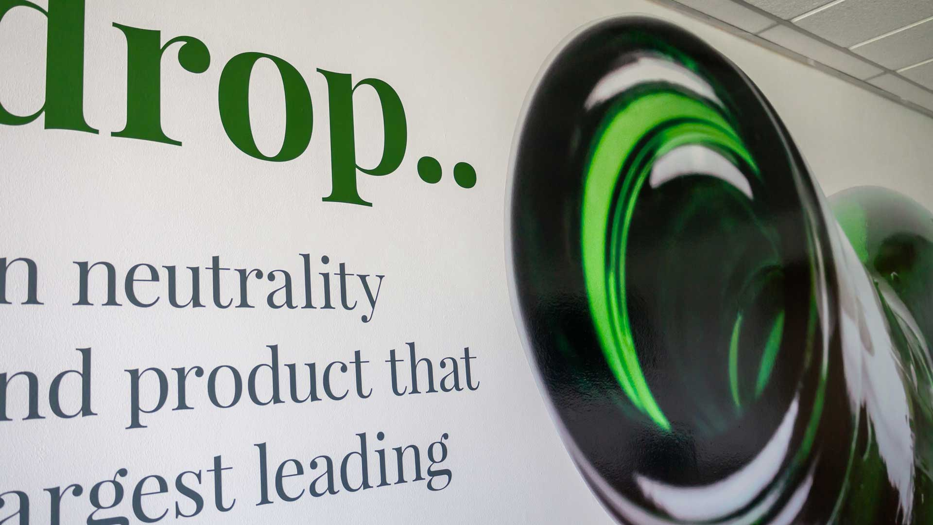 Greencroft Bottling Wall Graphic Design Detail