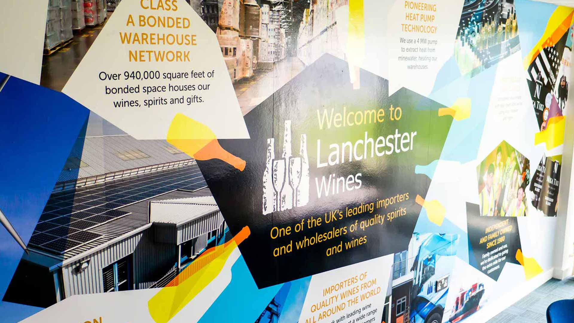 Lanchester Wines Wall Design Close Up by Tony Man