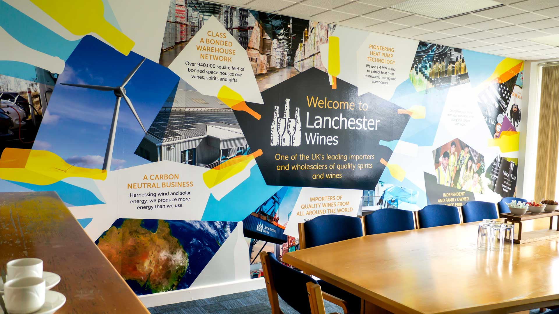 Lanchester Wines Wall Graphics by Tony Man